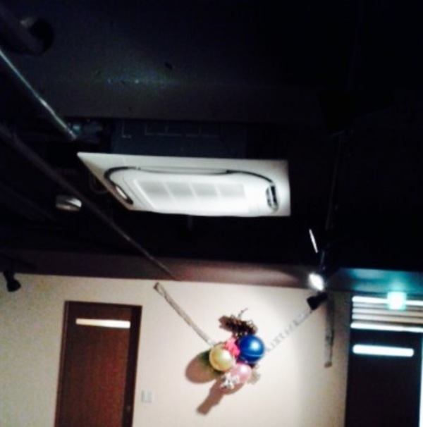 エアコン工事が終わりました。
